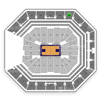 Sacramento Kings at Golden 1 Center Section 207 View