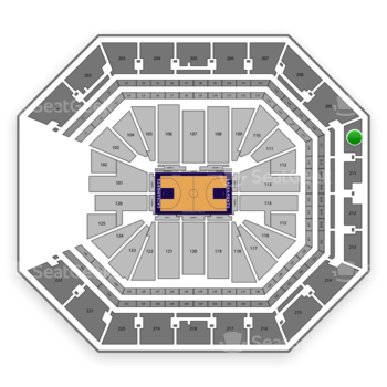 Sacramento Kings at Golden 1 Center Section 210 View