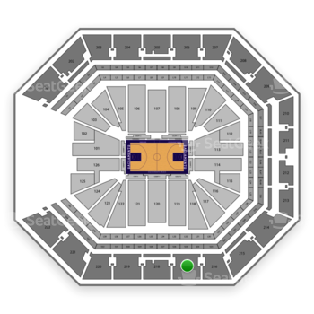 Sacramento Kings at Golden 1 Center Section 217 View