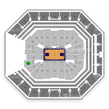 Sacramento Kings at Golden 1 Center Section 125 View