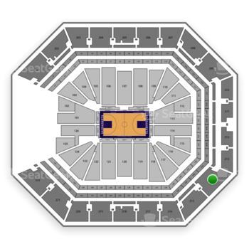 Sacramento Kings at Golden 1 Center Section 214 View
