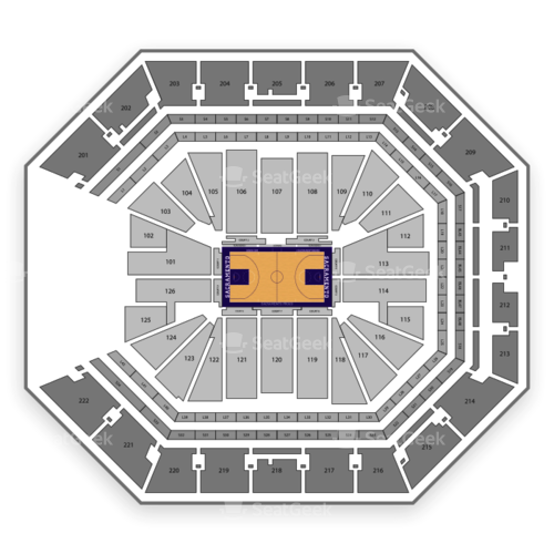 Golden 1 Center Seating Chart Map Seatgeek