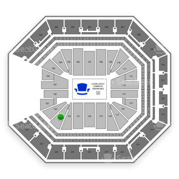 NBA at Golden 1 Center Section 123 View