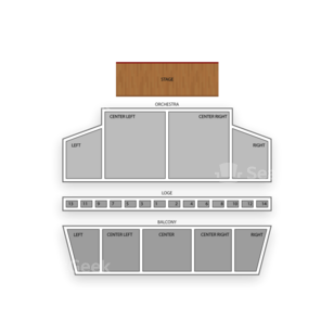 Town Hall Seating Chart Theater
