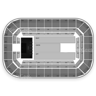 Dow Event Center Seating Chart Concert