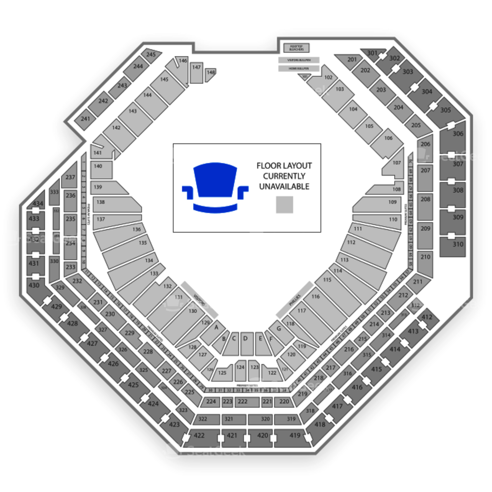 Citizens Bank Park Seating Chart Parking