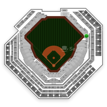 Philadelphia Phillies at Citizens Bank Park Section 107 View