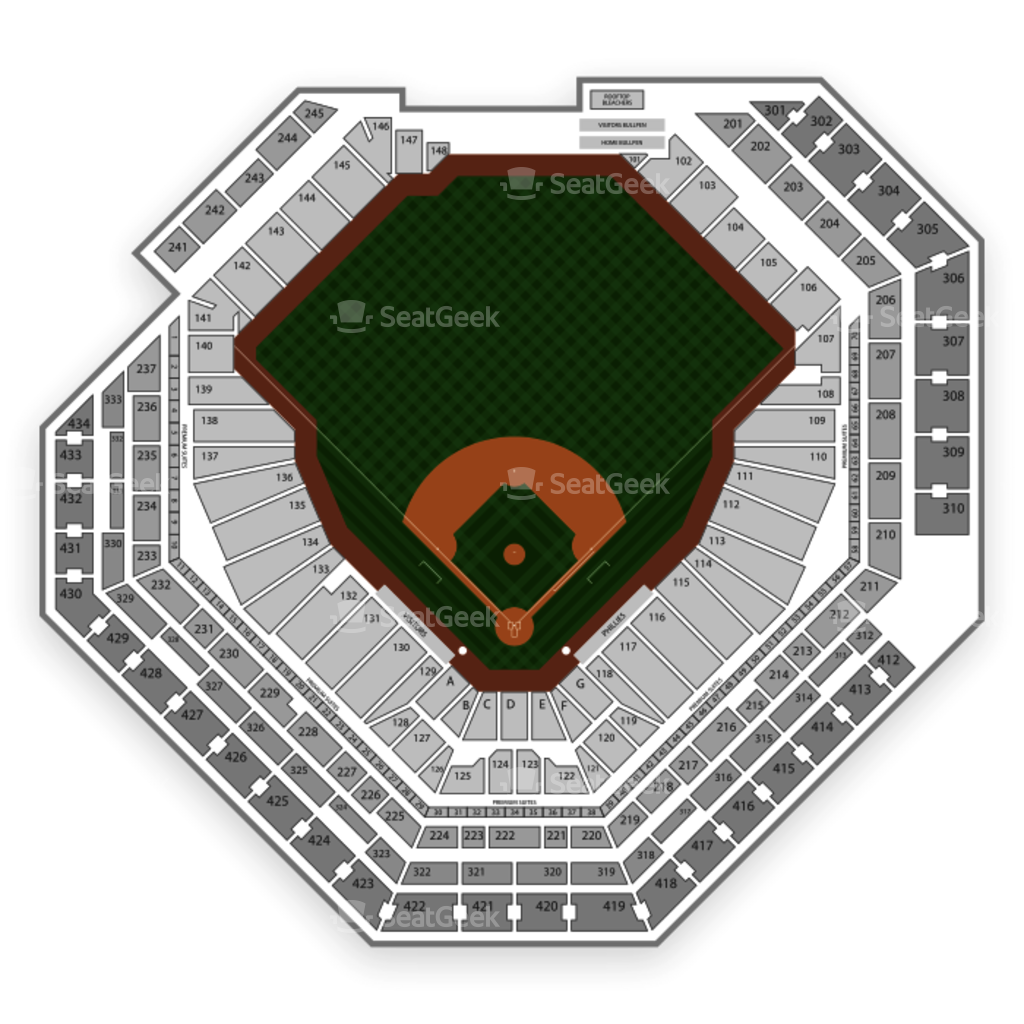 Citizens Bank Park Seating Chart Seatgeek