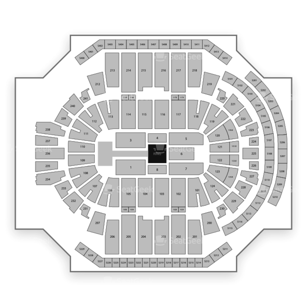 XL Center Seating Chart Wwe