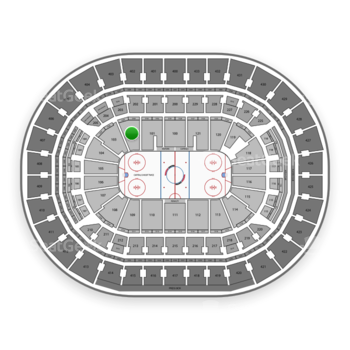Washington Capitals at Capital One Arena Section 102 View