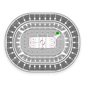 Washington Capitals at Capital One Arena Section 119 View