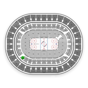 Washington Capitals at Capital One Arena Section 210 View