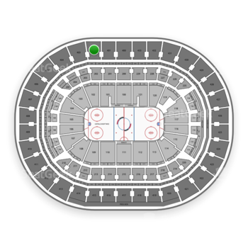 Washington Capitals at Capital One Arena Section 402 View