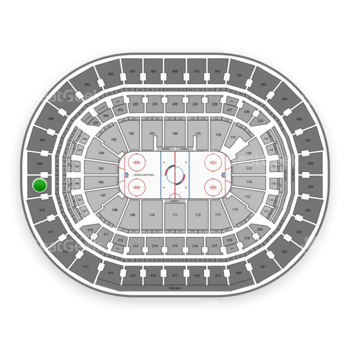 Washington Capitals at Capital One Arena Section 409 View