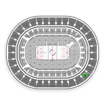 Washington Capitals at Capital One Arena Section 422 View