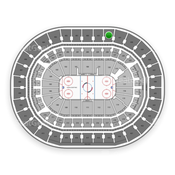 Washington Capitals at Capital One Arena Section 432 View