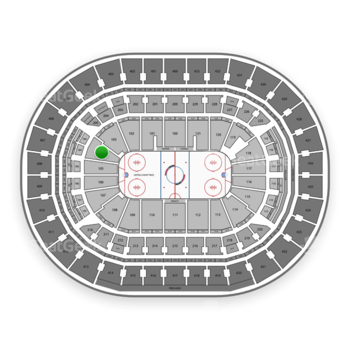 Washington Capitals at Verizon Center Section 104 View