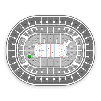 Washington Capitals at Verizon Center Section 107 View