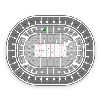 Washington Capitals at Verizon Center Section 201 View