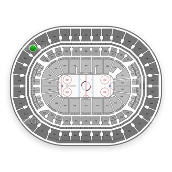 Washington Capitals at Verizon Center Section 405 View