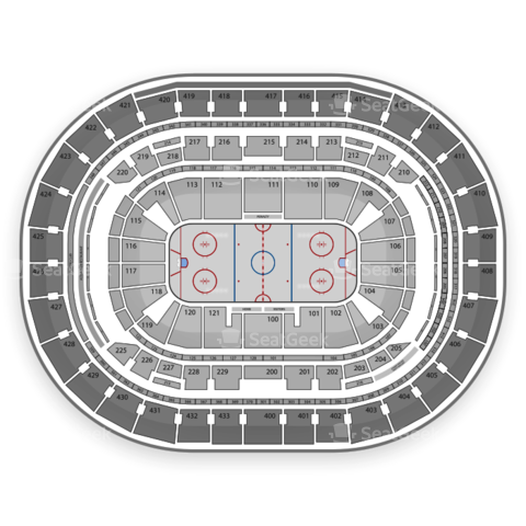 Verizon Center seating chart Washington Capitals