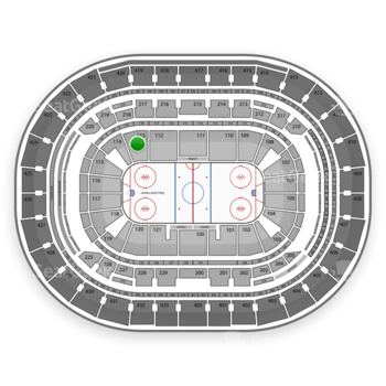 Washington Capitals at Verizon Center Section 113 View