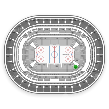 Washington Capitals at Verizon Center Section 103 View