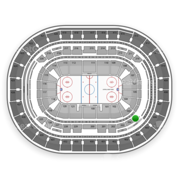 Washington Capitals at Verizon Center Section 205 View