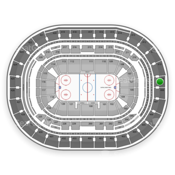 Washington Capitals at Verizon Center Section 409 View