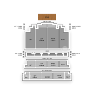 Tivoli Theatre Seating Chart Comedy