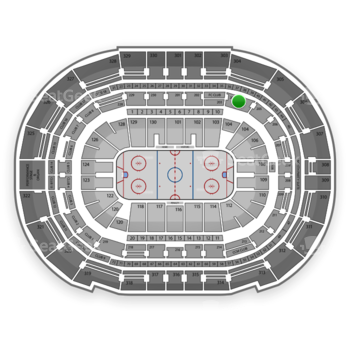 Tampa Bay Lightning at Amalie Arena Section 204 View