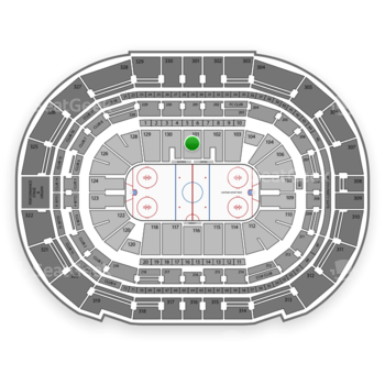 Tampa Bay Lightning at Amalie Arena Section 101 View