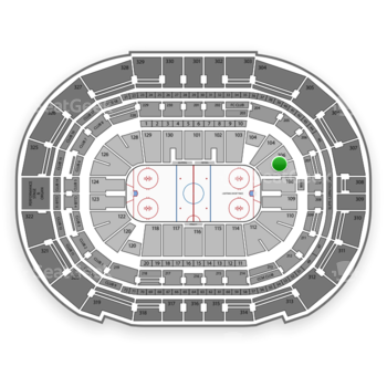 Tampa Bay Lightning at Amalie Arena Section 106 View