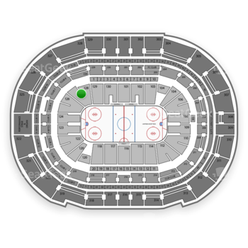 Tampa Bay Lightning at Amalie Arena Section 128 View