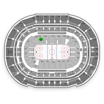 Tampa Bay Lightning at Amalie Arena Section 129 View
