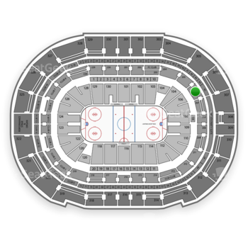 Tampa Bay Lightning at Amalie Arena Section 206 View