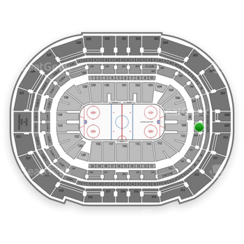 Tampa Bay Lightning at Amalie Arena Section 209 View