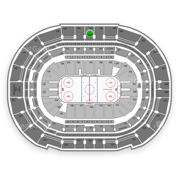 Tampa Bay Lightning at Amalie Arena Section 301 View