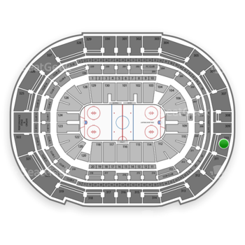 Tampa Bay Lightning at Amalie Arena Section 310 View