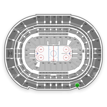 Tampa Bay Lightning at Amalie Arena Section 313 View