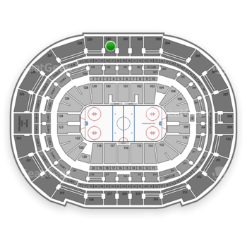 Tampa Bay Lightning at Amalie Arena Section 330 View