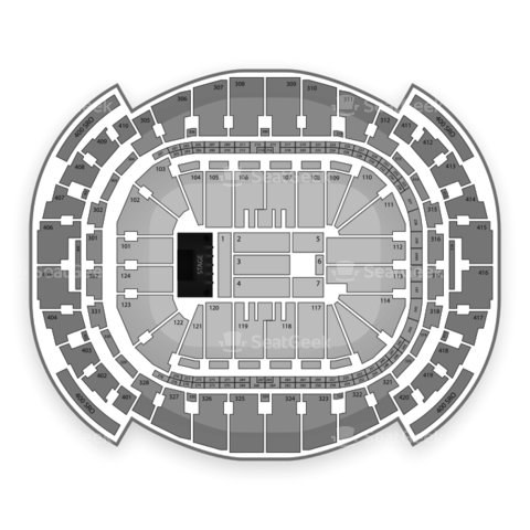 American Airlines Arena seating chart One Direction