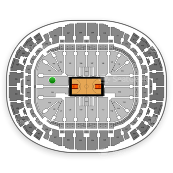 Miami Heat at American Airlines Arena Section 101 View