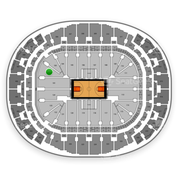 Miami Heat at American Airlines Arena Section 102 View
