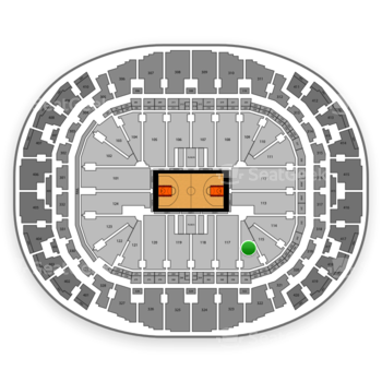 Miami Heat at American Airlines Arena Section 116 View
