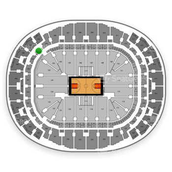Miami Heat at American Airlines Arena Section 304 View
