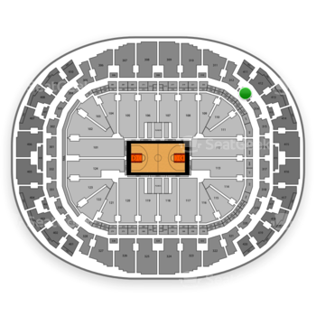 Miami Heat at American Airlines Arena Section 313 View