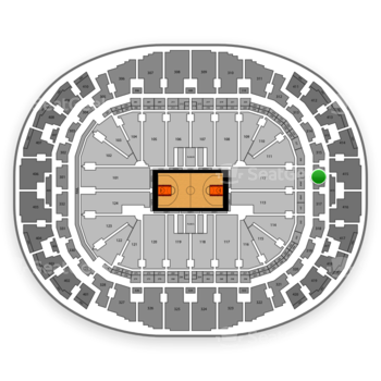 Miami Heat at American Airlines Arena Section 316 View
