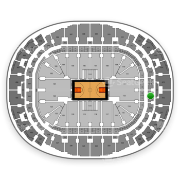Miami Heat at American Airlines Arena Section 317 View