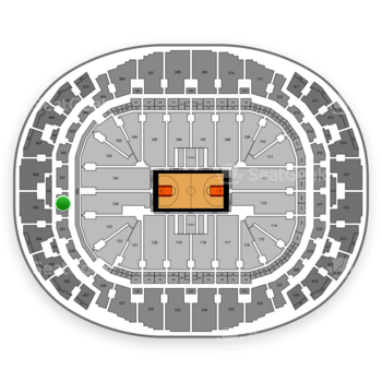 Miami Heat at American Airlines Arena Section 332 View